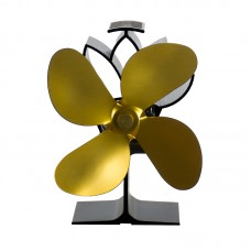 Termoelektrický ventilátor krbový zlatý