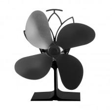 Termoelektrický ventilátor krbový černý